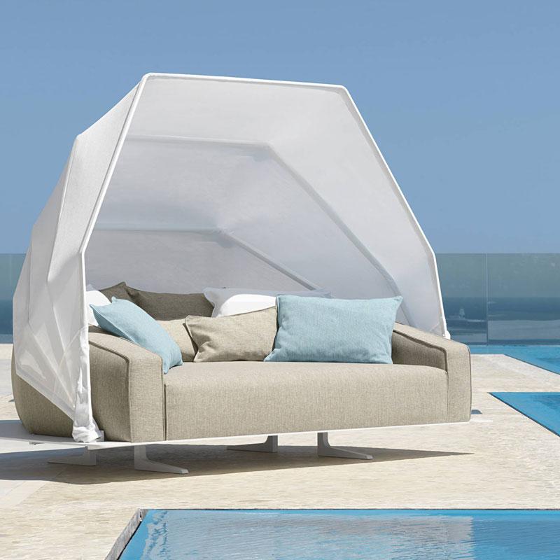 έπιπλα Sofa Bed εξωτερικού επαγγελματικού χώρου